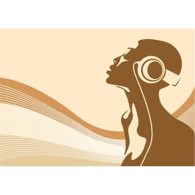 Fototapeta Ženska in glasba
