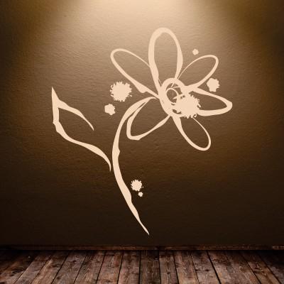 Stenska nalepka Abstraktna roža