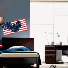 Stenska nalepka Ameriška zastava
