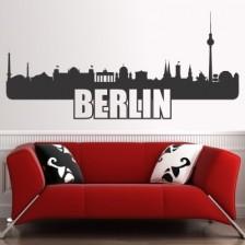 Stenska nalepka Berlin Skyline