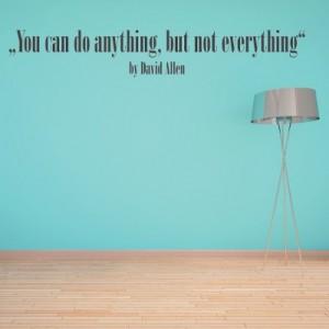 Stenska nalepka Do Anything (David Allen)
