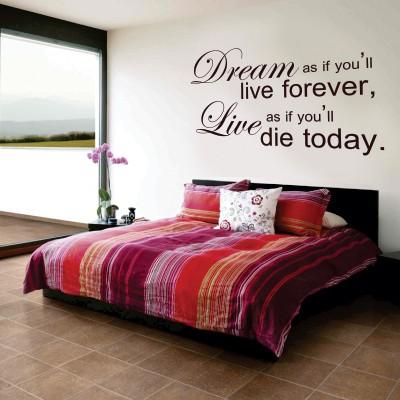 Stenska nalepka Dream and Live