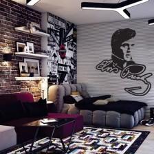 Stenska nalepka Elvis Presley