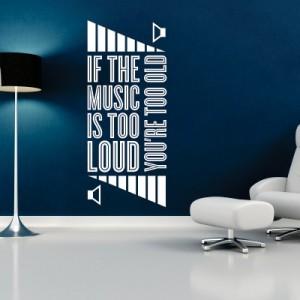 Stenska nalepka Glasna glasba