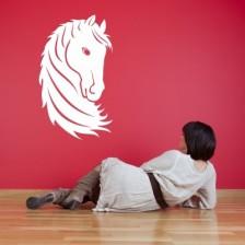 Stenska nalepka Glava konja