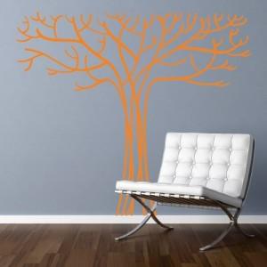 Stenska nalepka Golo drevo