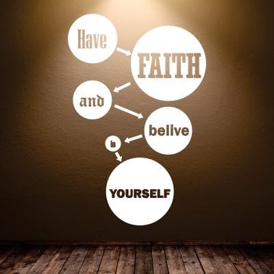 Stenska nalepka Have Faith