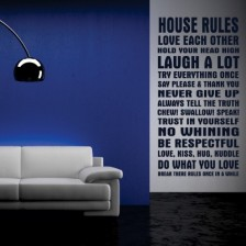 Stenska nalepka House Rules