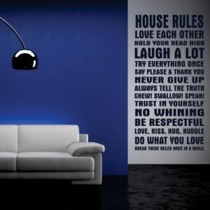 Stenska nalepka House Rules