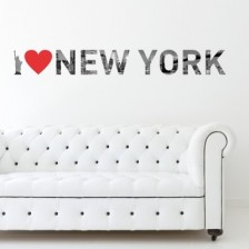 Stenska nalepka I Love New York