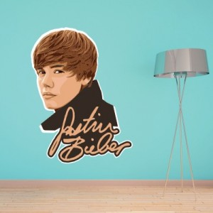 Stenska nalepka Justin Bieber 2