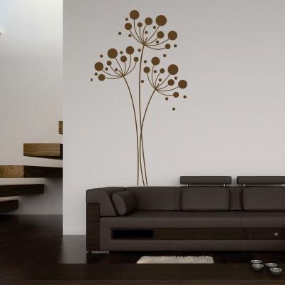 Stenska nalepka krogi na veji dekorativne nalepke for Adesivi sul muro
