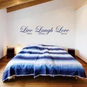 Stenska nalepka Live Laugh Love 2