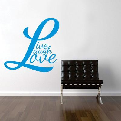 Stenska nalepka Live Laugh Love