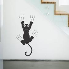 Stenska nalepka Mačka praska