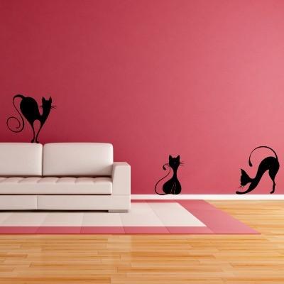 Stenska nalepka Mačke
