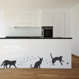 Stenska nalepka Mačke in stopinje
