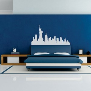 Stenska nalepka New York Skyline