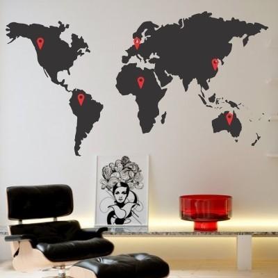 Stenska nalepka Označi svet