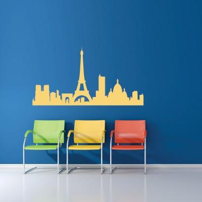 Stenska nalepka Paris Skyline