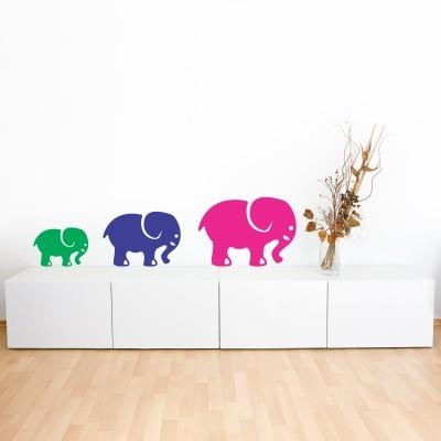 Stenska nalepka Sloni