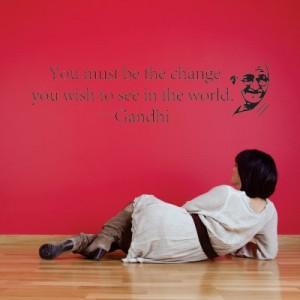 Stenska nalepka The Change (Gandhi)
