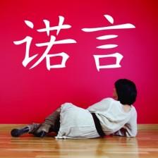 Stenska nalepka Kitajska pismenka Vera
