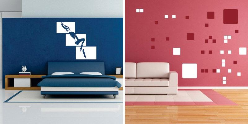 Stenske nalepke za dekoracijo prostorov