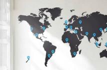 Stenska nalepka - zemljevid sveta