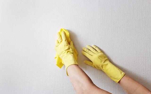 Brisanje prahu s stene
