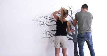 Montaža stenskih nalepk