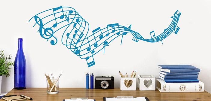 Stenske nalepke za ljubitelje glasbe