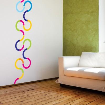 Stenska nalepka Barvna kača