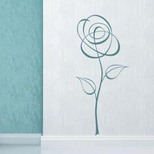 Stenska nalepka Abstraktna roža 6