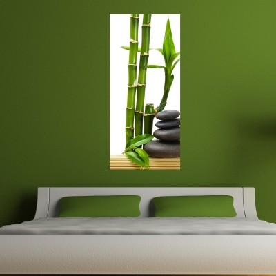 Stenska nalepka Bambus in kamni