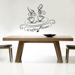 Stenska nalepka Coffee Time
