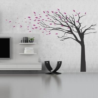 Stenska nalepka Drevo z odpadajočimi listi