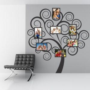 Stenska nalepka Družinsko drevo