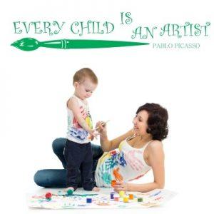 Stenska nalepka Every Child Is An Artist