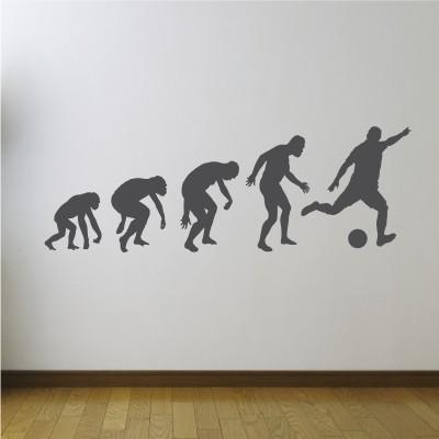 Stenska nalepka Evolucija nogometa