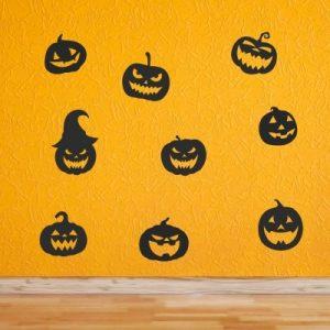 Stenska nalepka Halloween buče za noč čarovnic