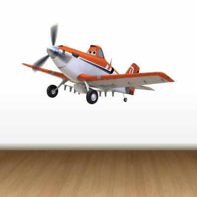 Stenska nalepka Letalo Dusty