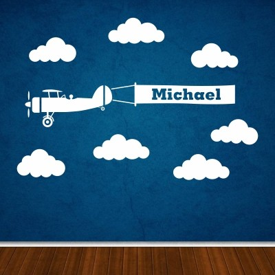 Stenska nalepka Letalo z vašim imenom