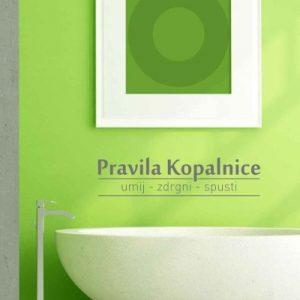 Stenska nalepka Pravila kopalnice