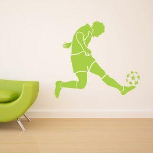 Stenska nalepka Nogometaš z žogo